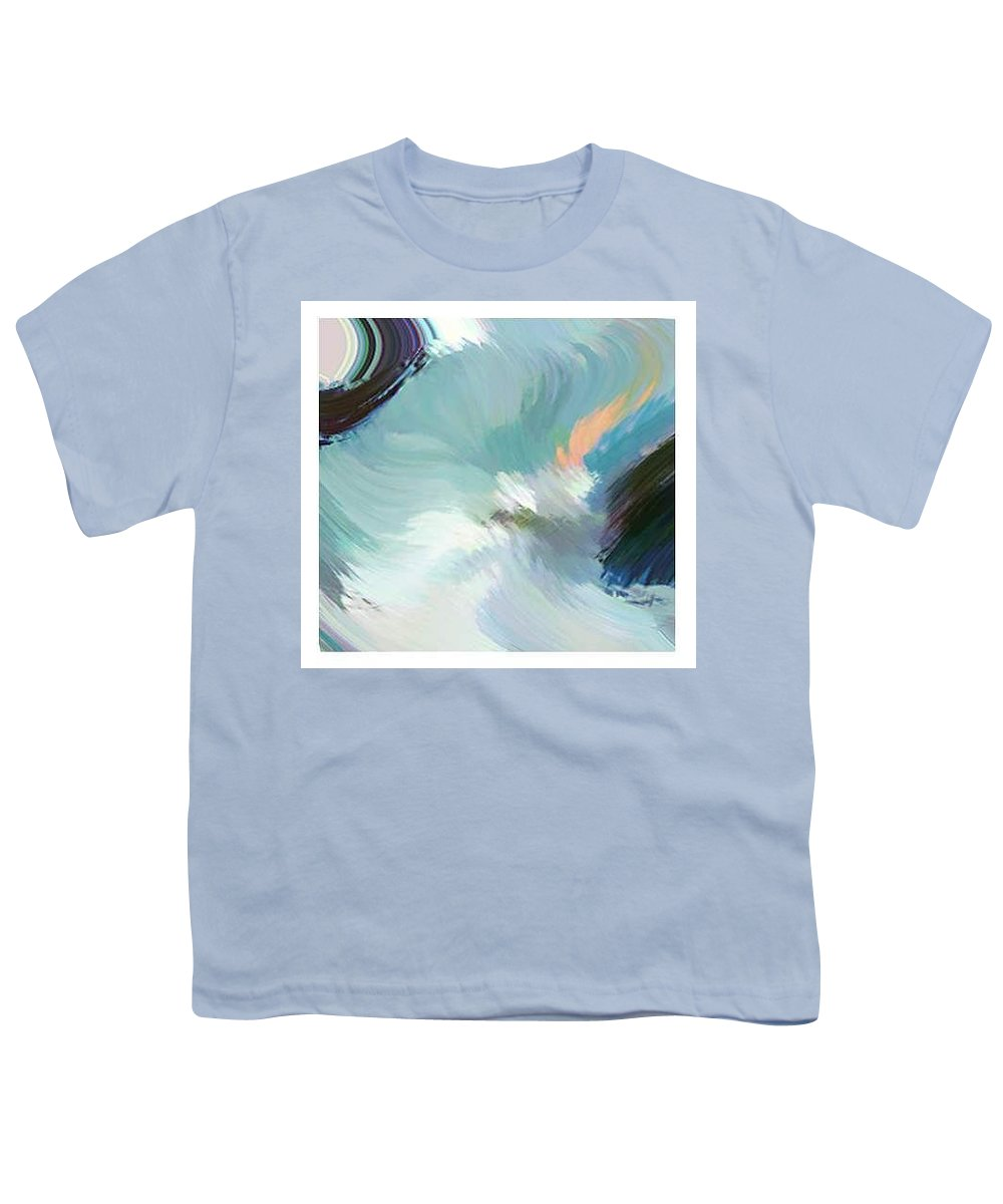 Landscape Digital Art Youth T-Shirt featuring the digital art Color Falls by Anil Nene