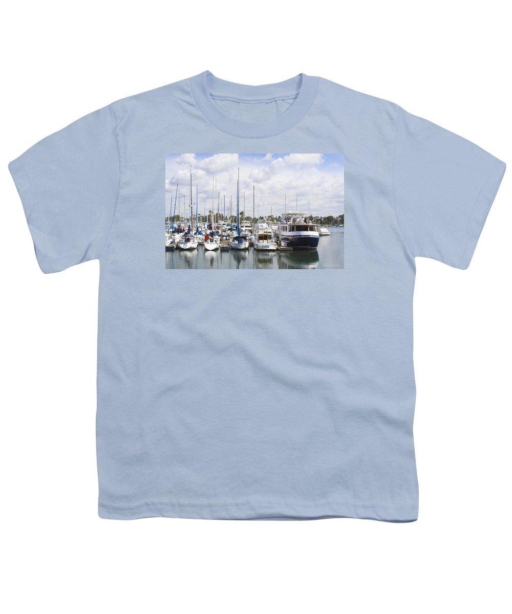Coronado Youth T-Shirt featuring the photograph Coronado Boats II by Margie Wildblood