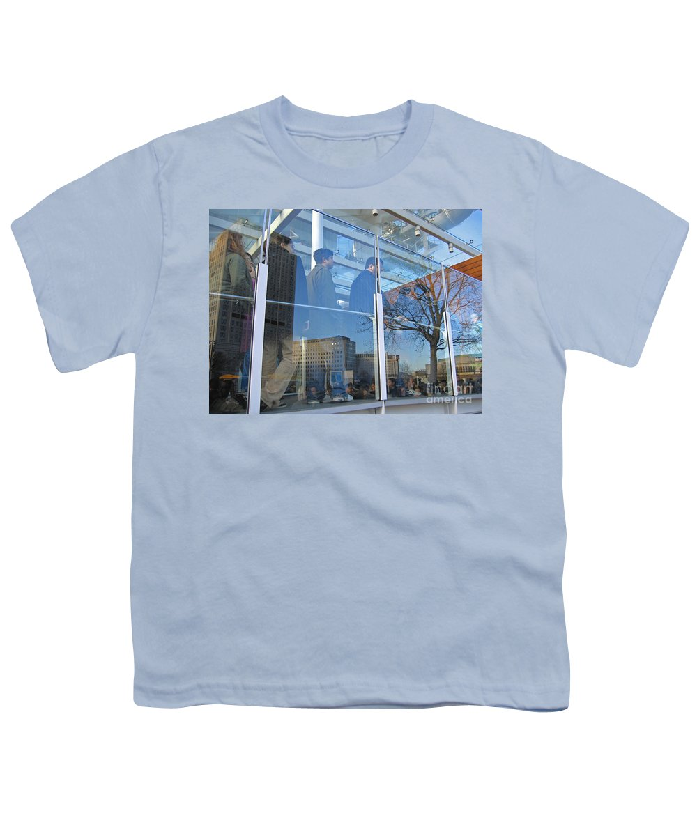 London Youth T-Shirt featuring the photograph Crowd Queuing Up by Ann Horn