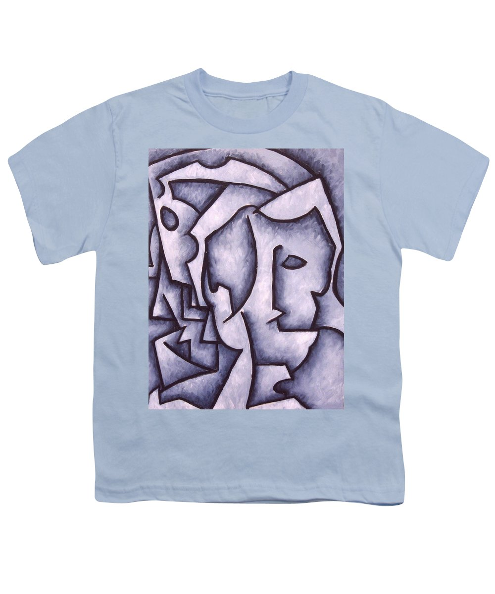 Abstract Youth T-Shirt featuring the painting David by Thomas Valentine