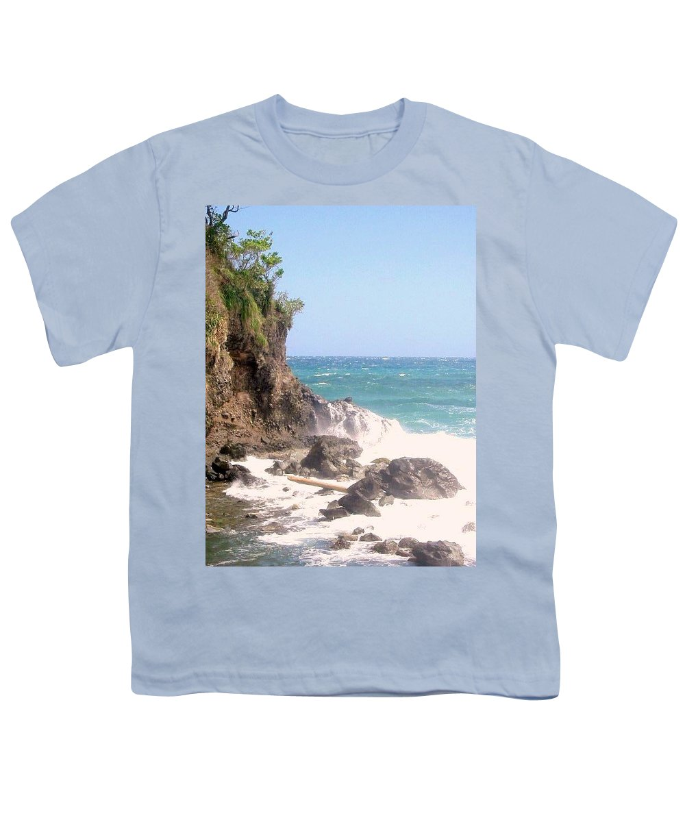 Dominica Youth T-Shirt featuring the photograph Dominica North Atlantic Coast by Ian MacDonald
