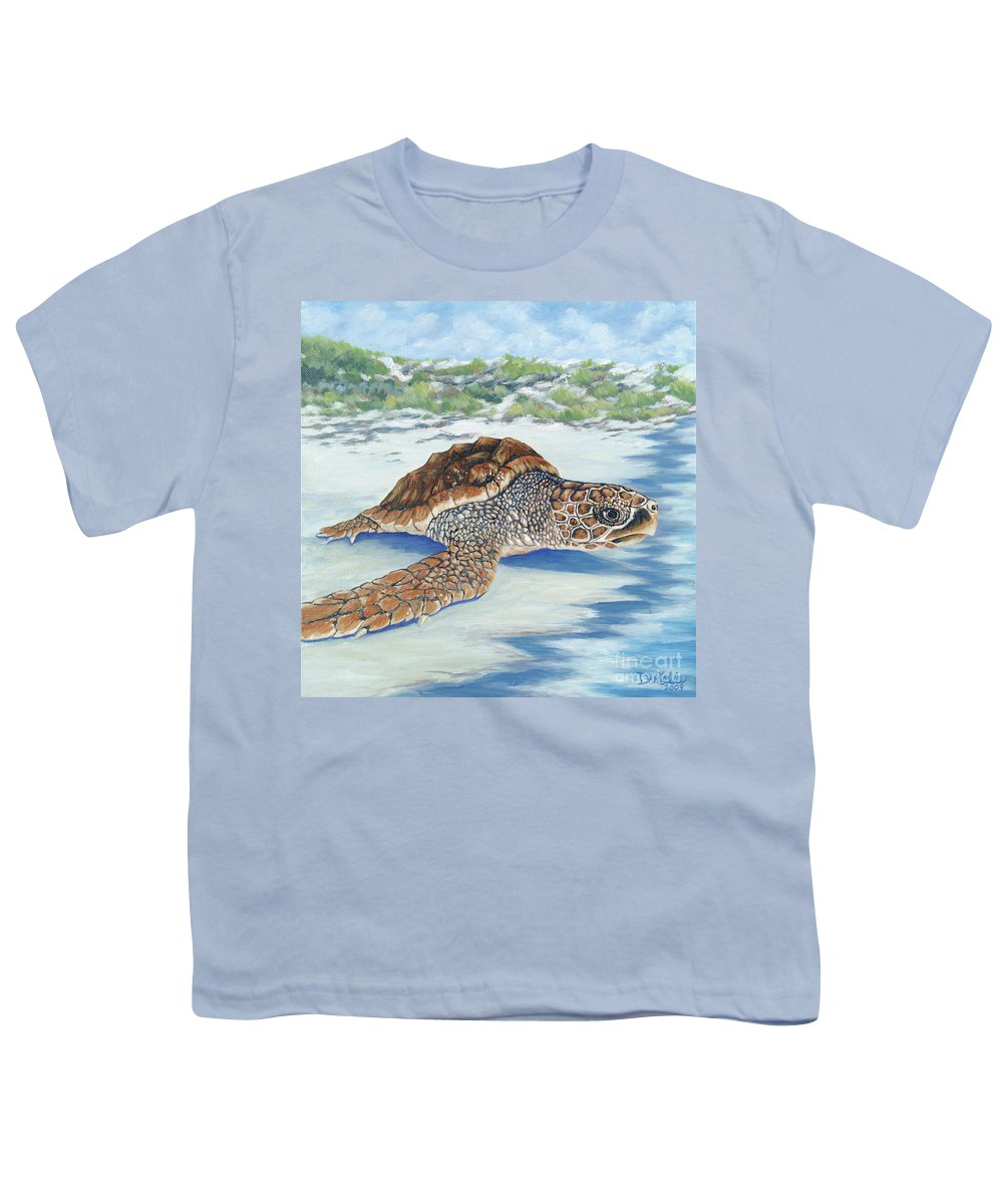 Sea Turtle Youth T-Shirt featuring the painting Dreaming Of Islands by Danielle Perry