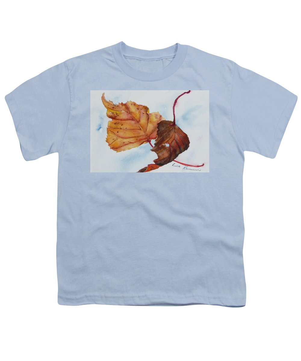 Fall Youth T-Shirt featuring the painting Drifting by Ruth Kamenev