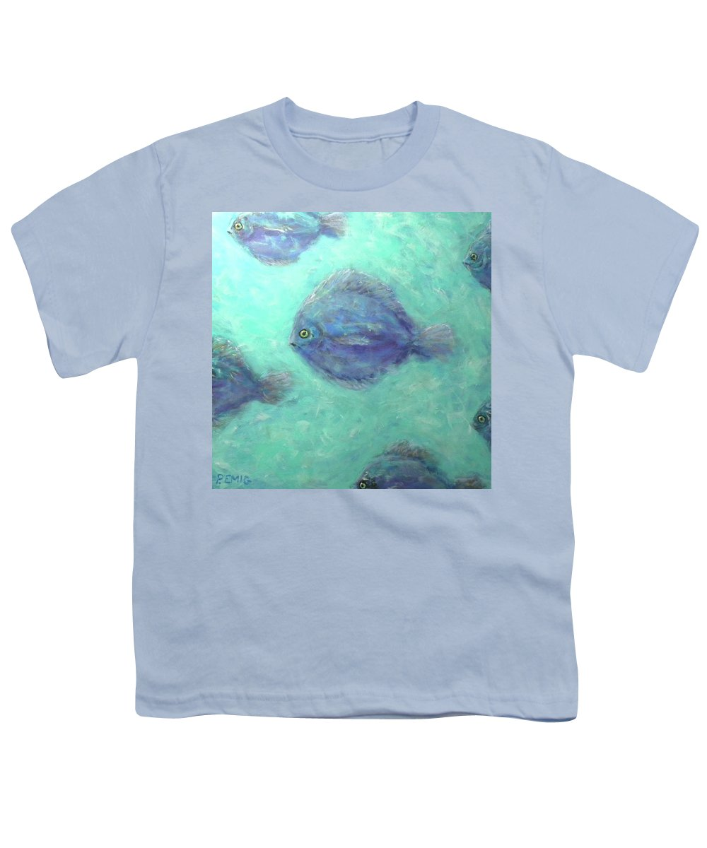 Fish Youth T-Shirt featuring the painting Exotic Fish by Paul Emig