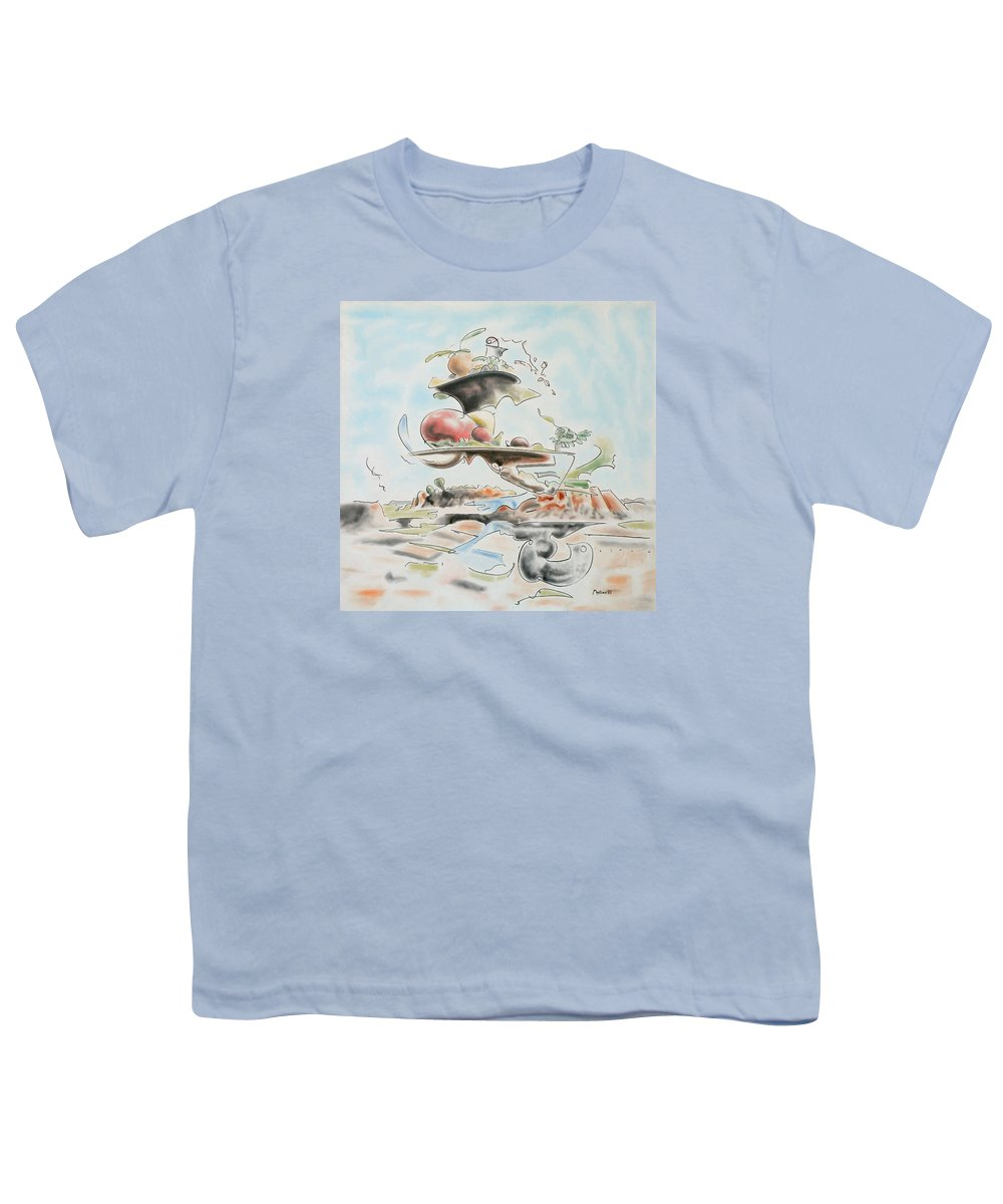 Abstract Youth T-Shirt featuring the painting Fast Food by Dave Martsolf
