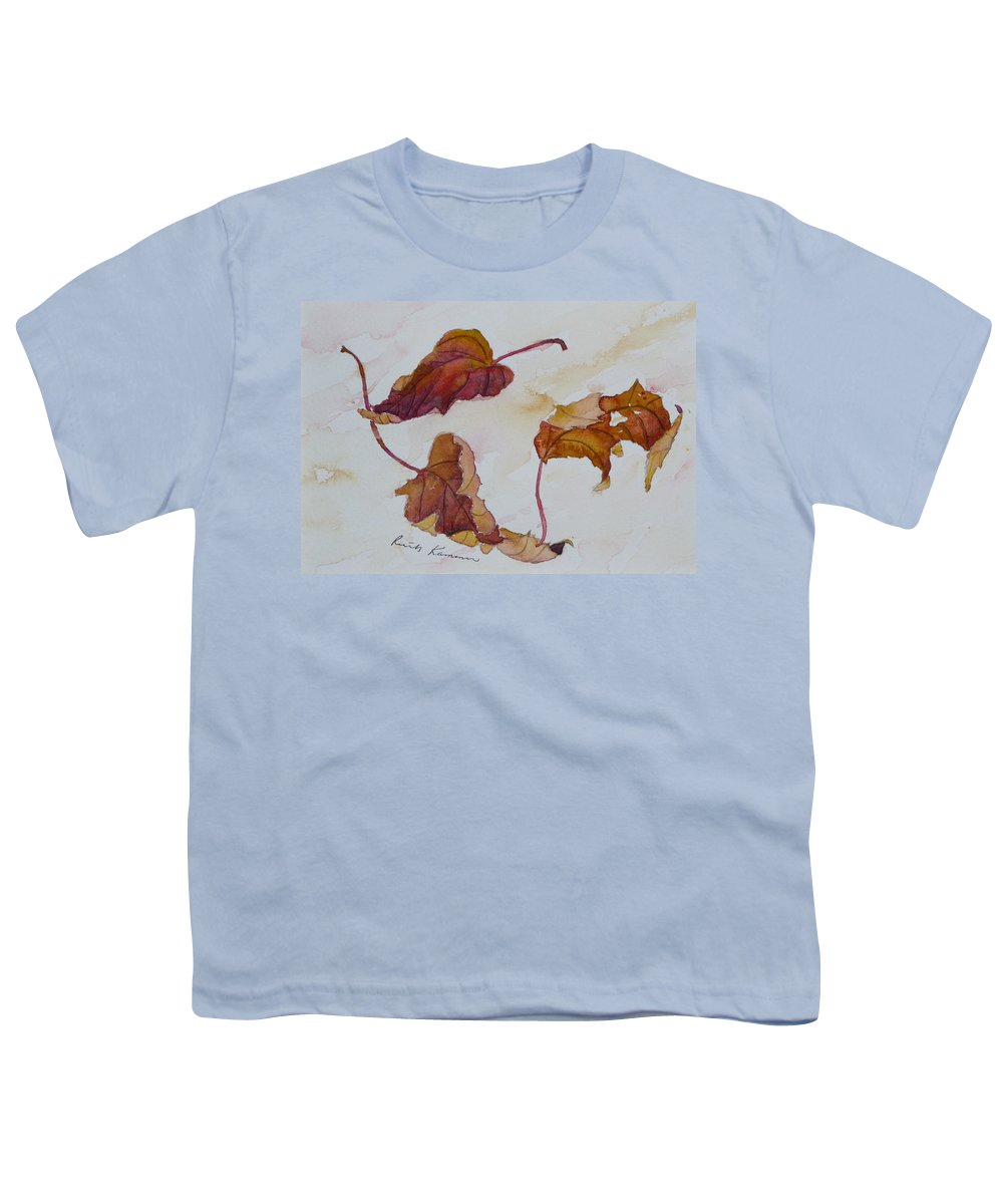 Fall Youth T-Shirt featuring the painting Floating by Ruth Kamenev