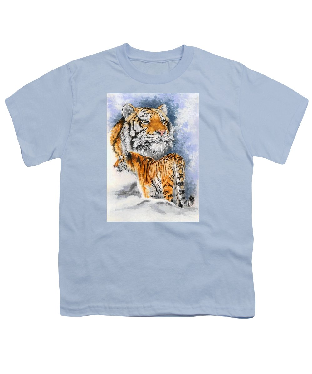 Big Cats Youth T-Shirt featuring the mixed media Forceful by Barbara Keith