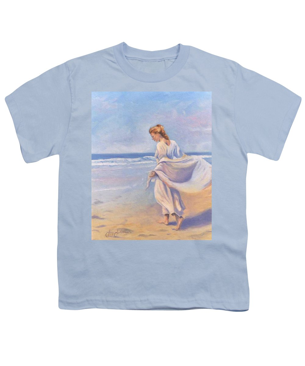 Beach Youth T-Shirt featuring the painting Golden Girls by Jay Johnson