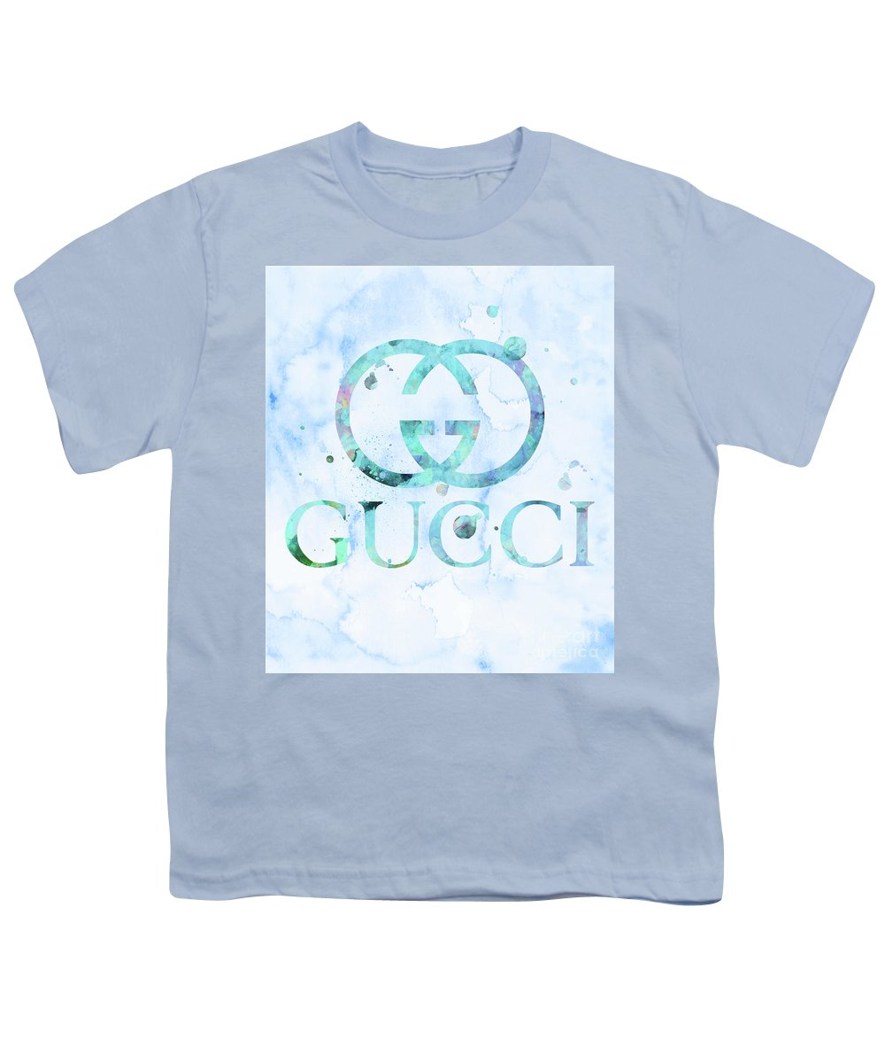 4a81d8f08 Gucci Logo Sky Blue 1 Youth T-Shirt for Sale by Del Art