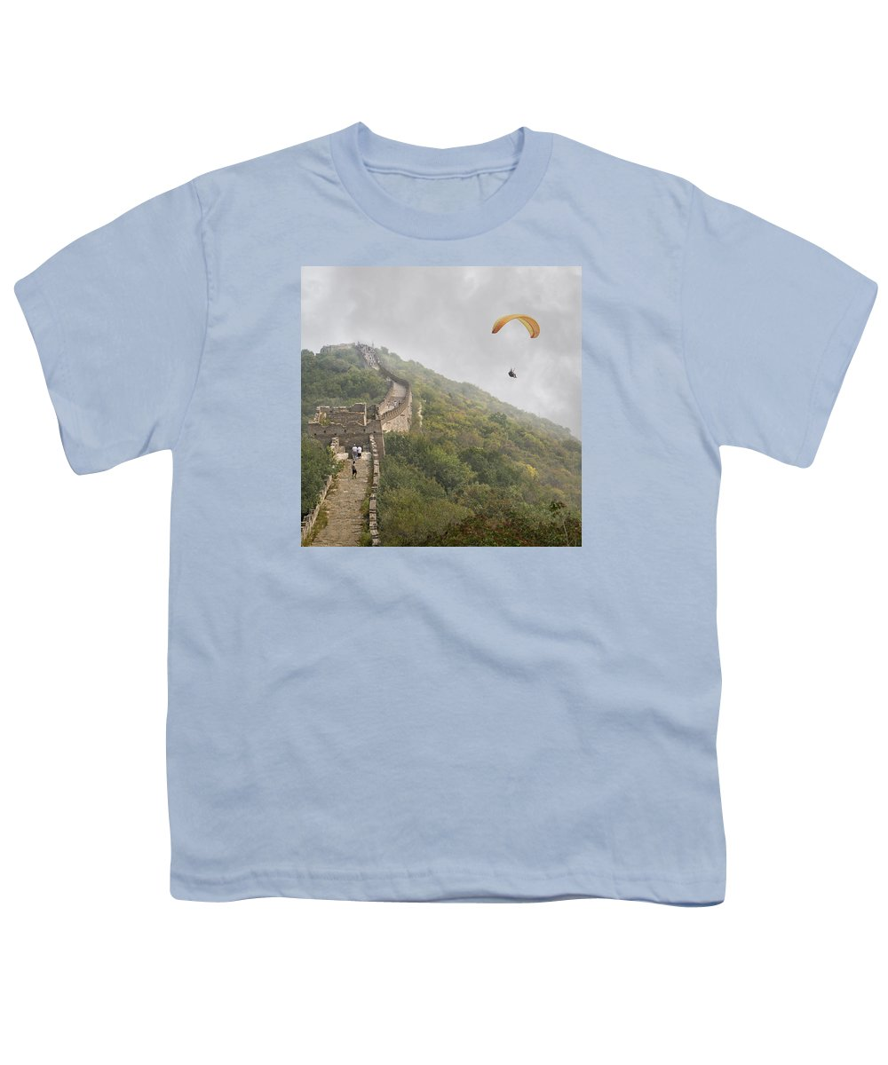 The Youth T-Shirt featuring the photograph Haunting Great Wall by Betsy Knapp