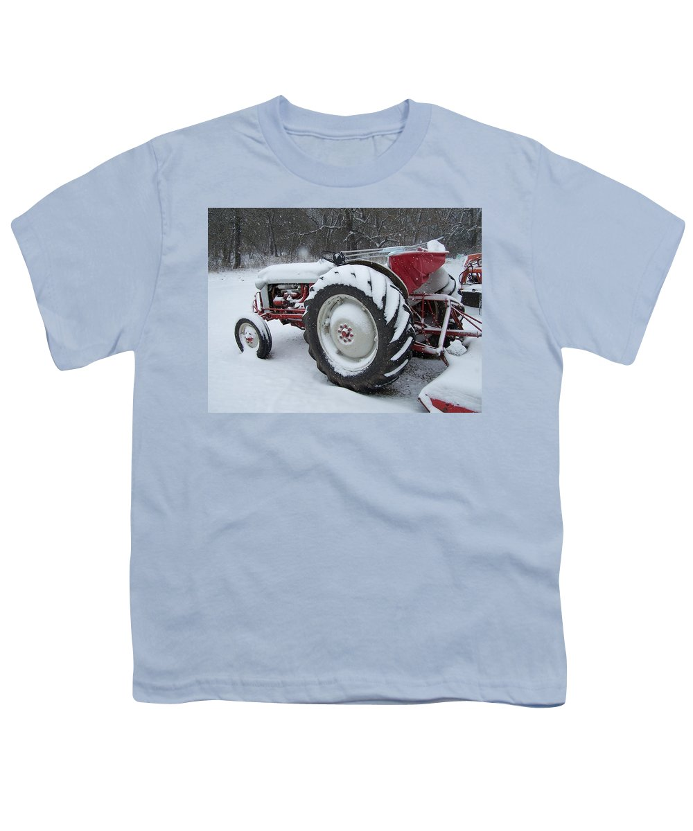 Tractor Youth T-Shirt featuring the photograph Herman by Gale Cochran-Smith