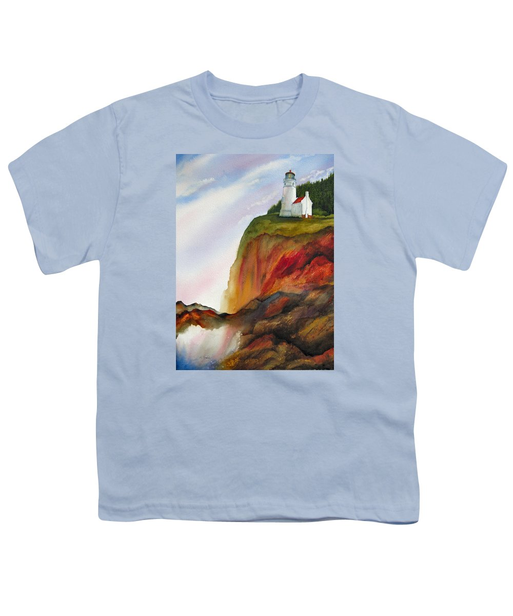 Coastal Youth T-Shirt featuring the painting High Ground by Karen Stark