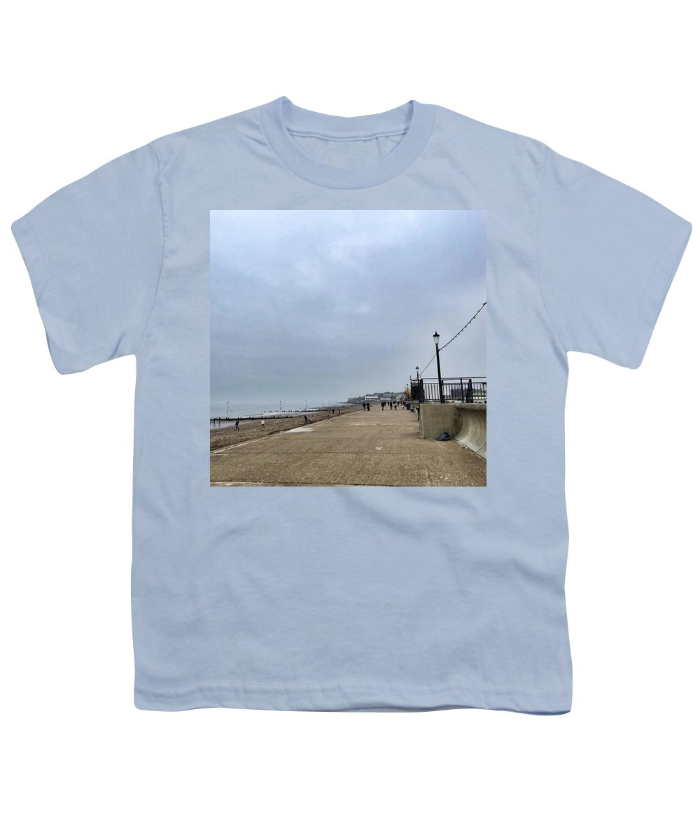 Beautiful Youth T-Shirt featuring the photograph Hunstanton At 4pm Yesterday As The by John Edwards