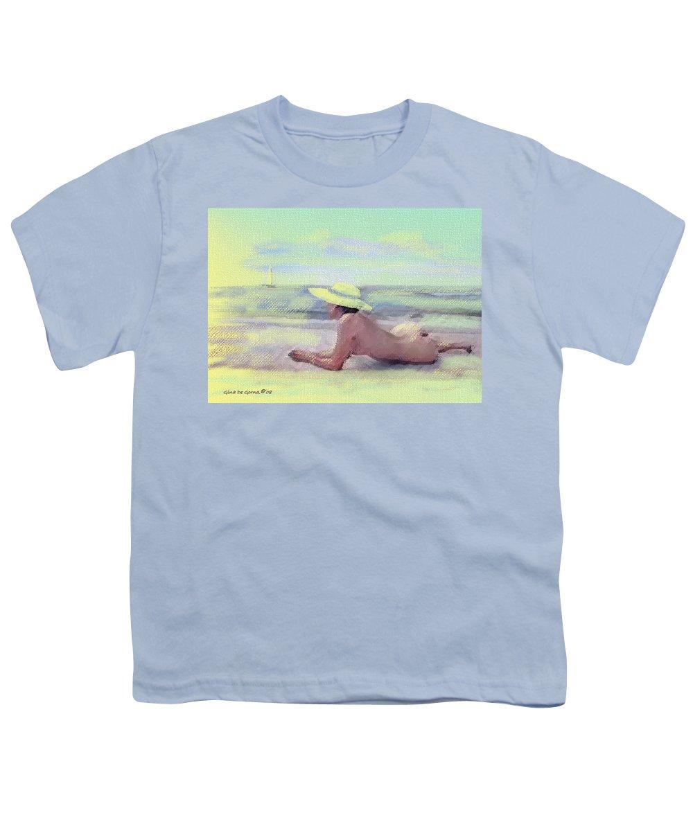 Original Art Youth T-Shirt featuring the pastel Imagine by Gina De Gorna