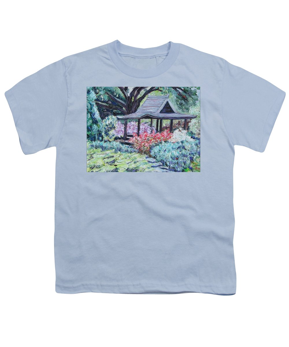 Garden Youth T-Shirt featuring the painting Japanese Garden by Richard Nowak