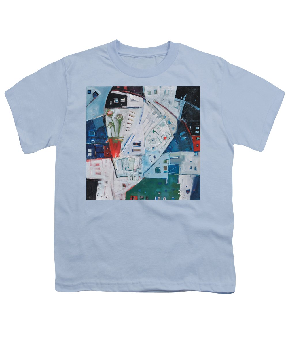 Jazz Youth T-Shirt featuring the painting Jazz In Bloom by Tim Nyberg