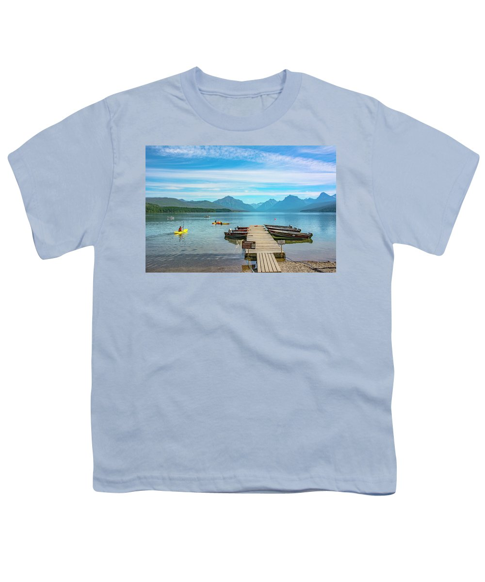 Montana Youth T-Shirt featuring the photograph July 4th on Lake McDonald by Bryan Spellman