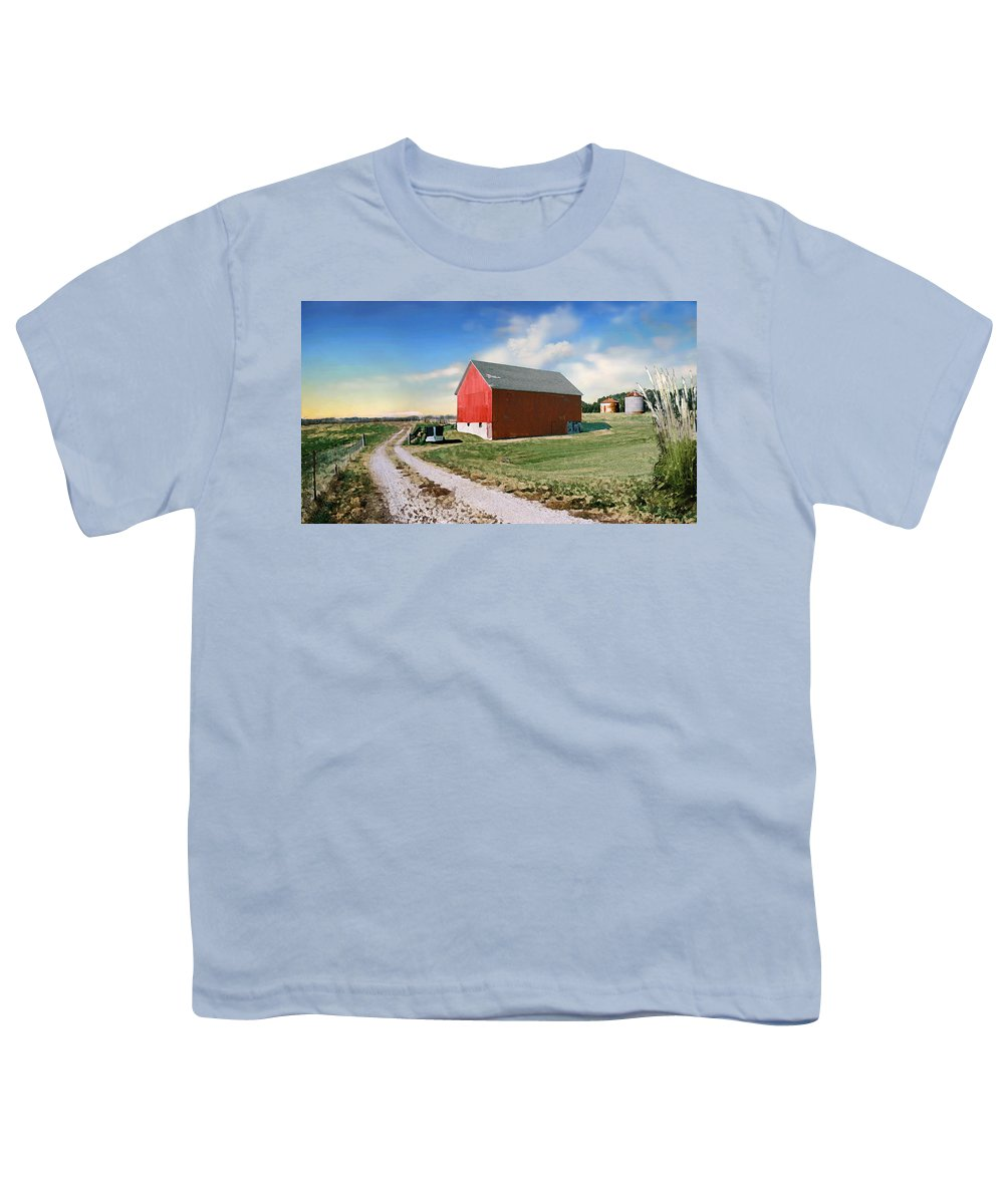 Barn Youth T-Shirt featuring the photograph Kansas Landscape II by Steve Karol