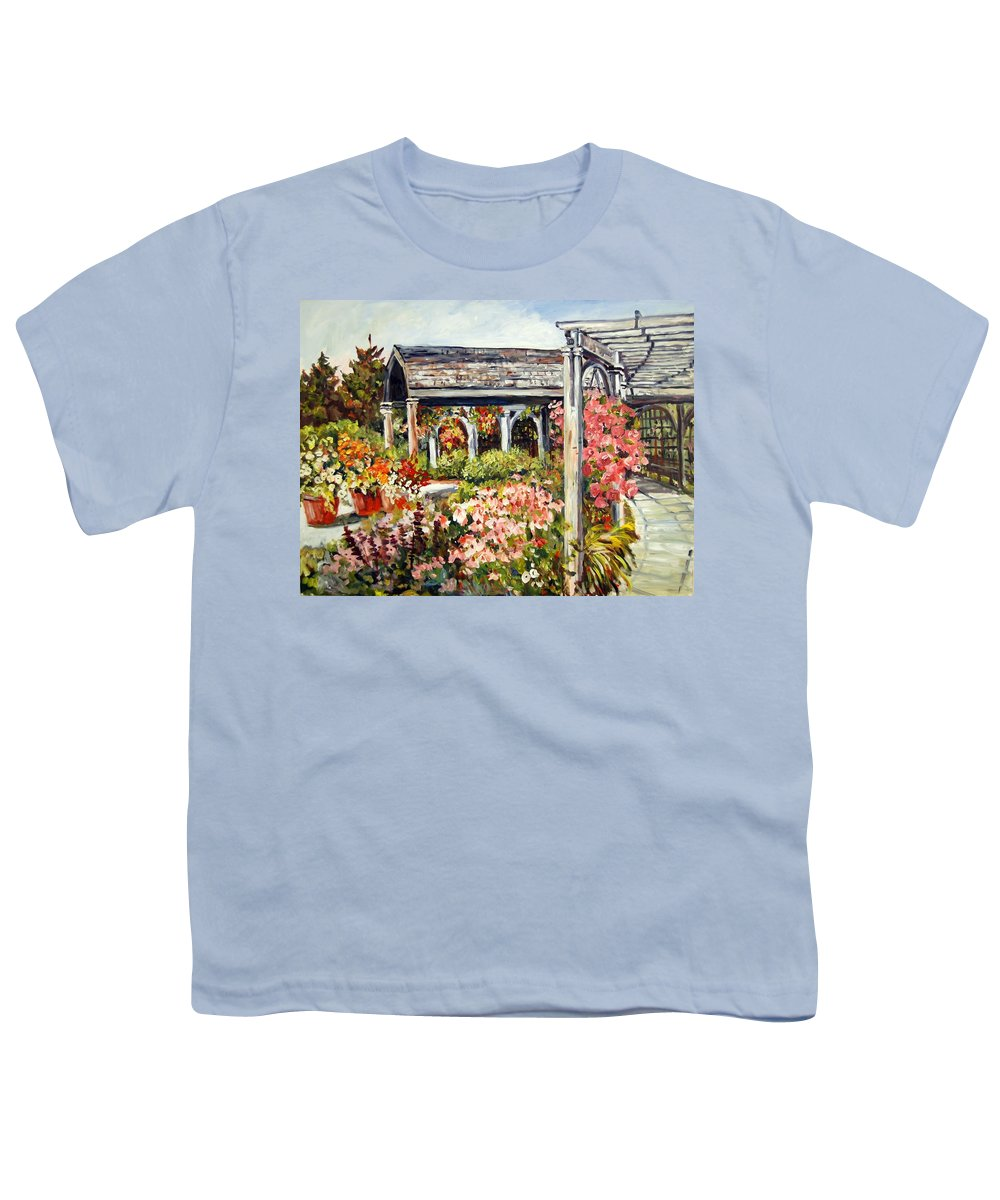 Landscape Youth T-Shirt featuring the painting Klehm Arboretum I by Alexandra Maria Ethlyn Cheshire