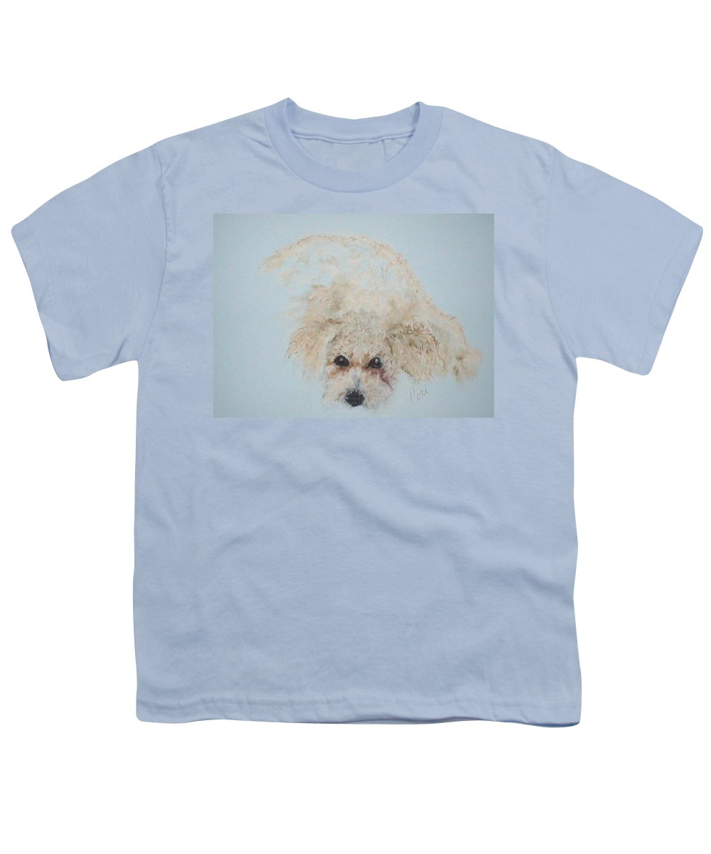 Dog Youth T-Shirt featuring the drawing Kuku by Cori Solomon