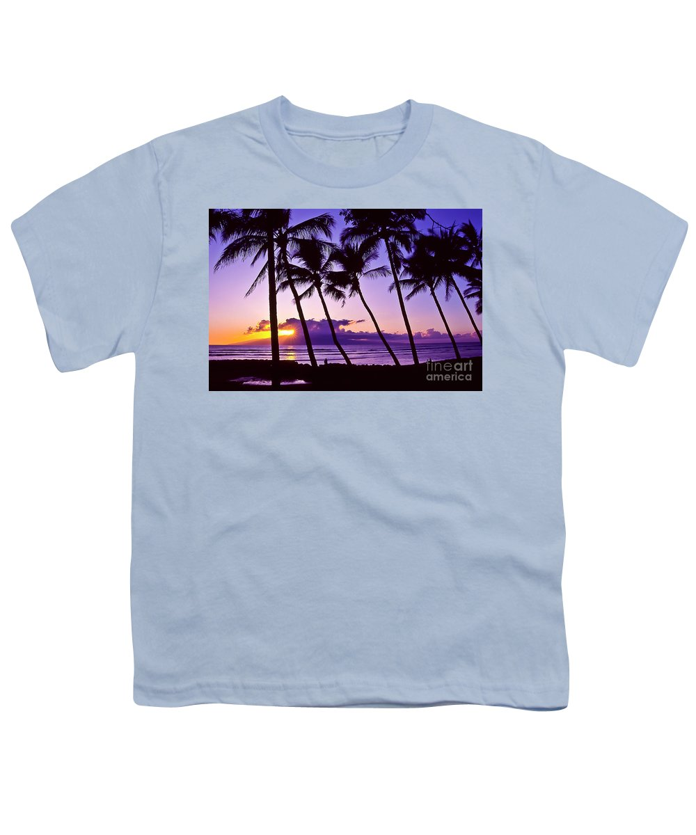 Landscapes Youth T-Shirt featuring the photograph Lanai Sunset by Jim Cazel