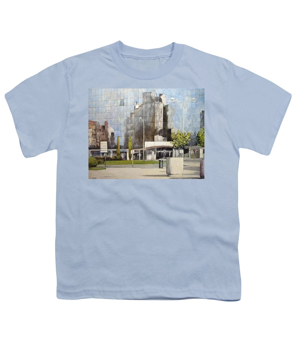 Leon Youth T-Shirt featuring the painting Leon by Tomas Castano
