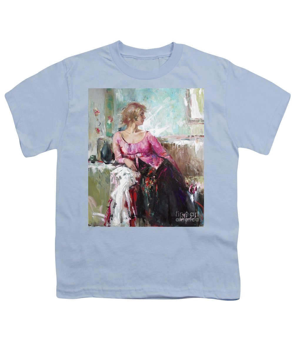 Ignatenko Youth T-Shirt featuring the painting Lera by Sergey Ignatenko