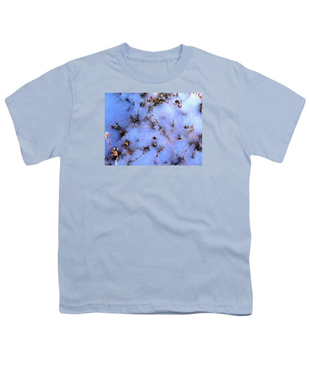 Abstract Youth T-Shirt featuring the digital art Light Snow In The Woods by Dave Martsolf