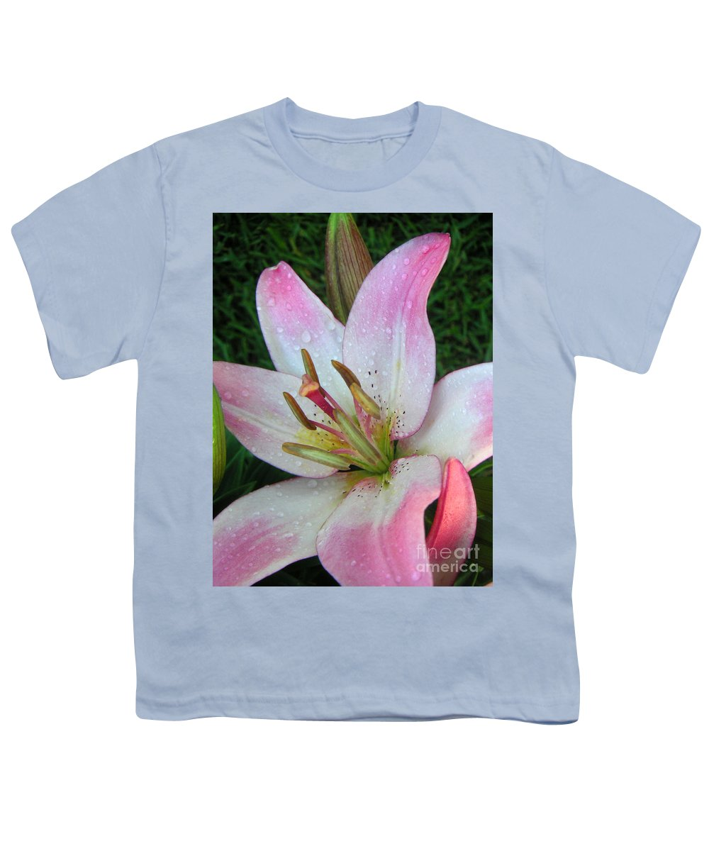 Nature Youth T-Shirt featuring the photograph Lily Singled Out by Lucyna A M Green
