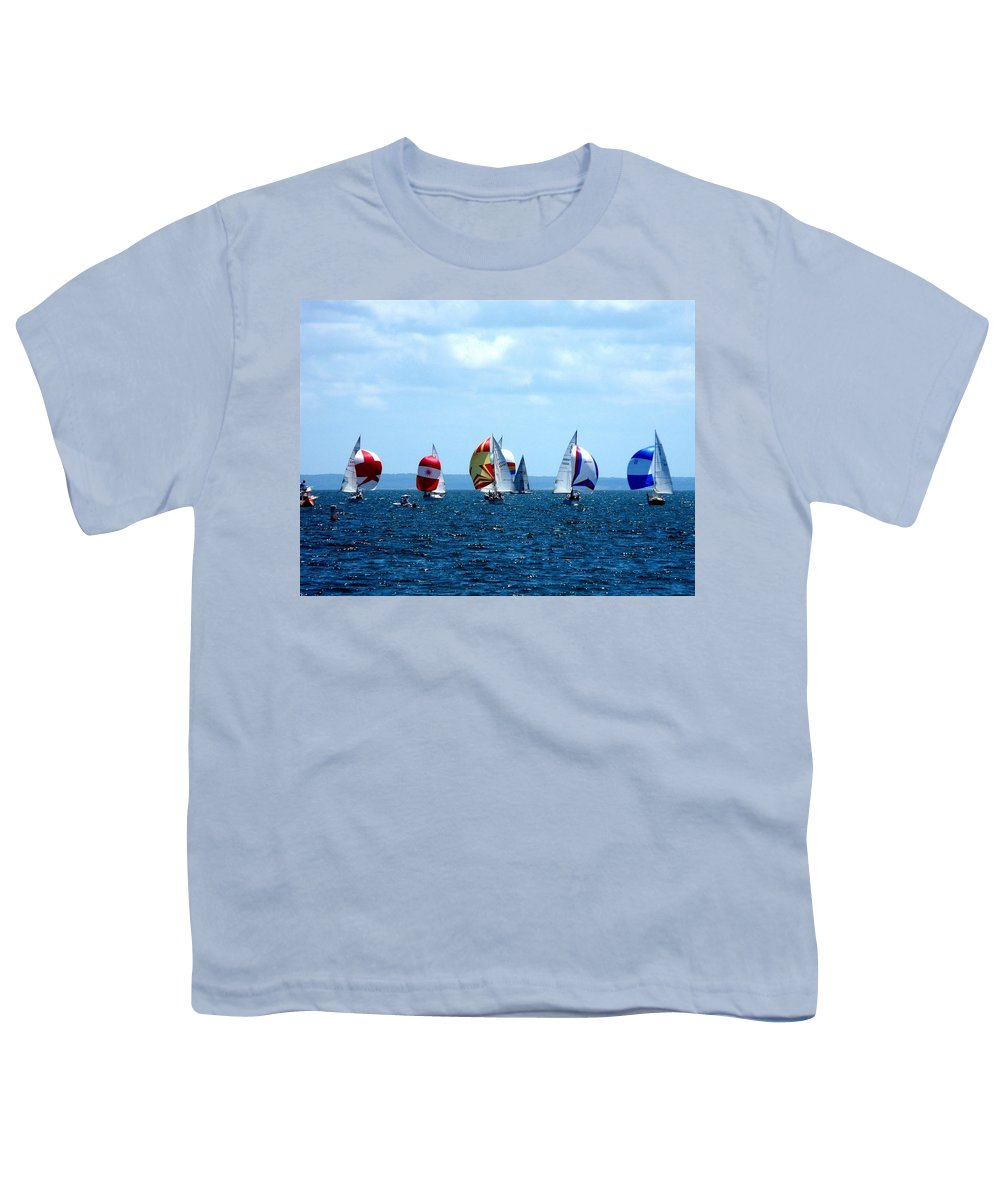 Landscape Youth T-Shirt featuring the photograph Line Up by Kendall Eutemey
