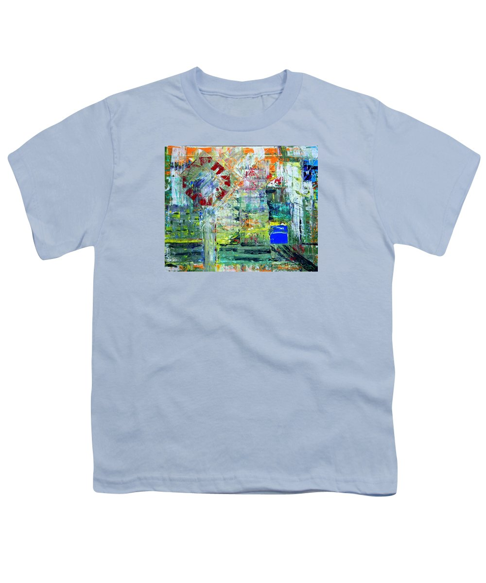 Abstract Youth T-Shirt featuring the painting Milton Place by J R Seymour
