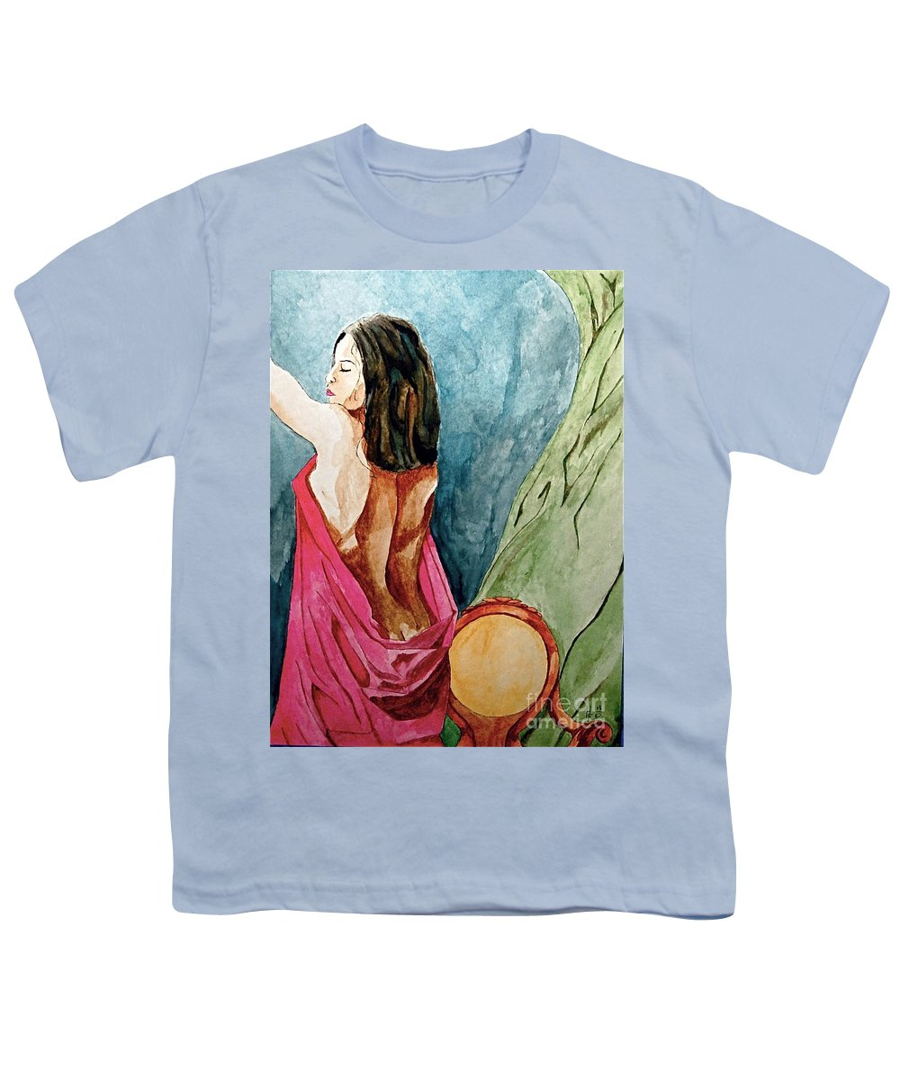 Nudes Women Youth T-Shirt featuring the painting Morning Light by Herschel Fall