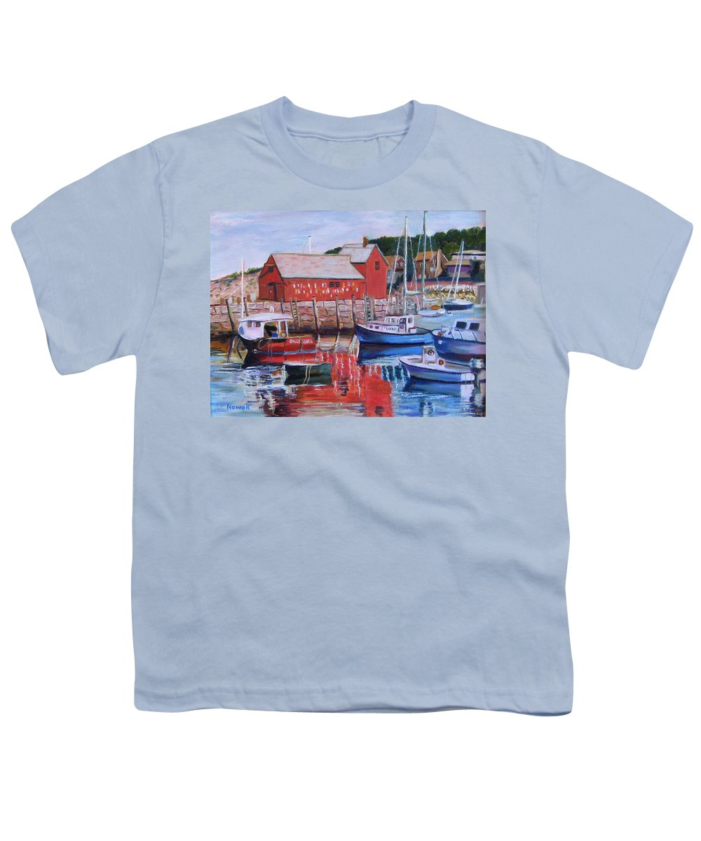Rockport Youth T-Shirt featuring the painting Motif Number One by Richard Nowak