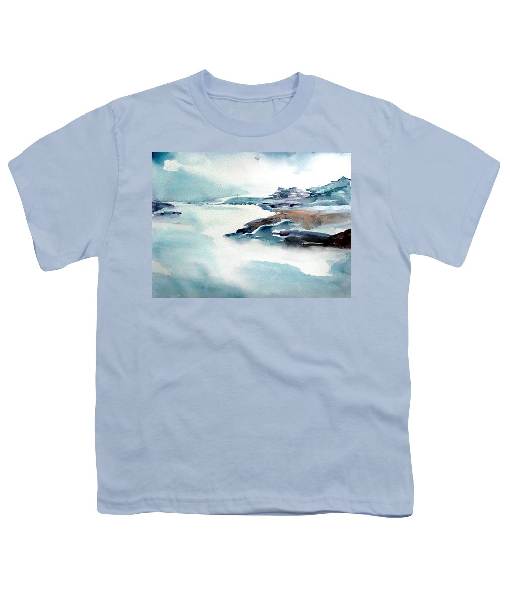 River Youth T-Shirt featuring the painting Mystic River by Anil Nene