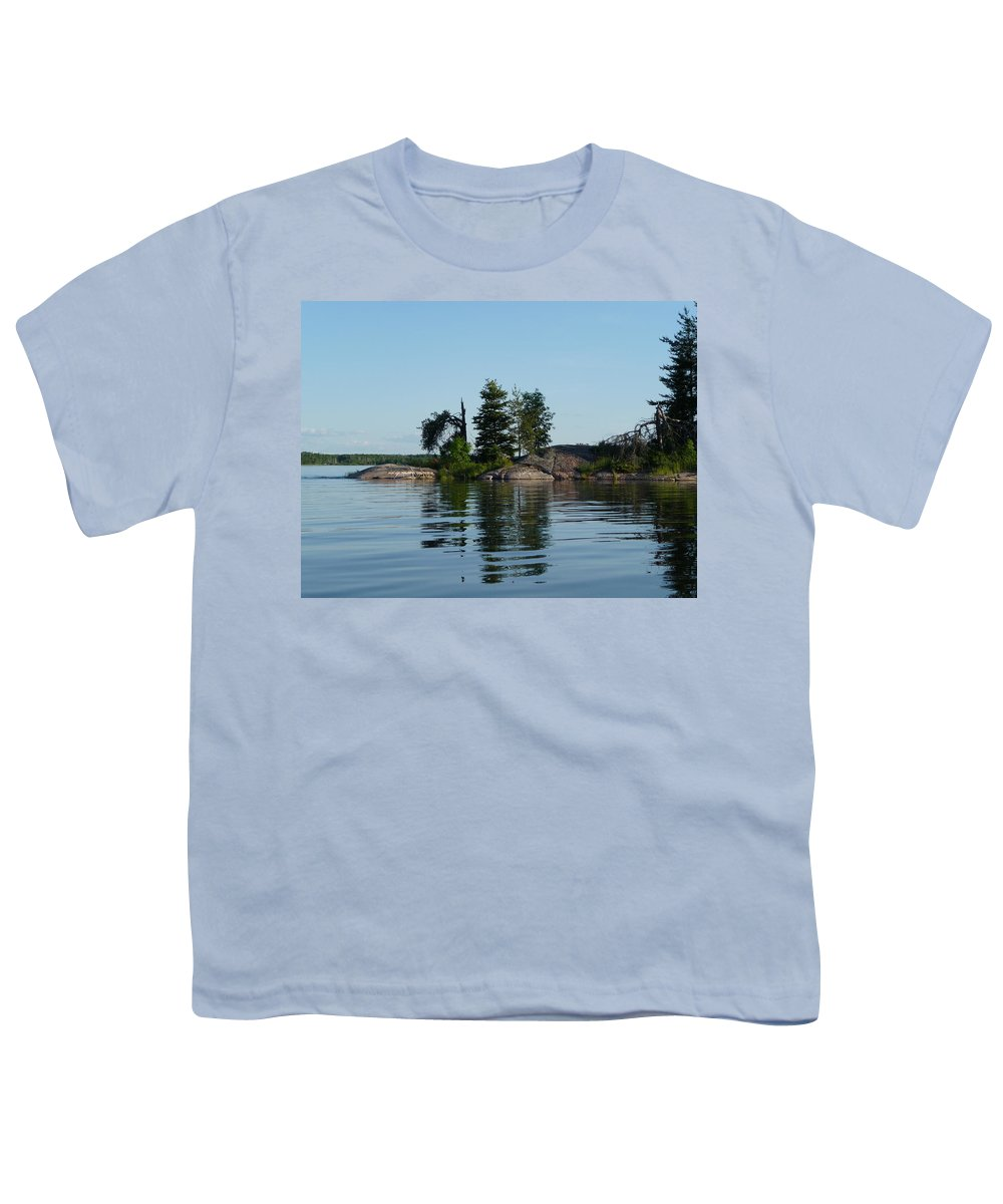 Lake Youth T-Shirt featuring the photograph Natural Breakwater by Ruth Kamenev