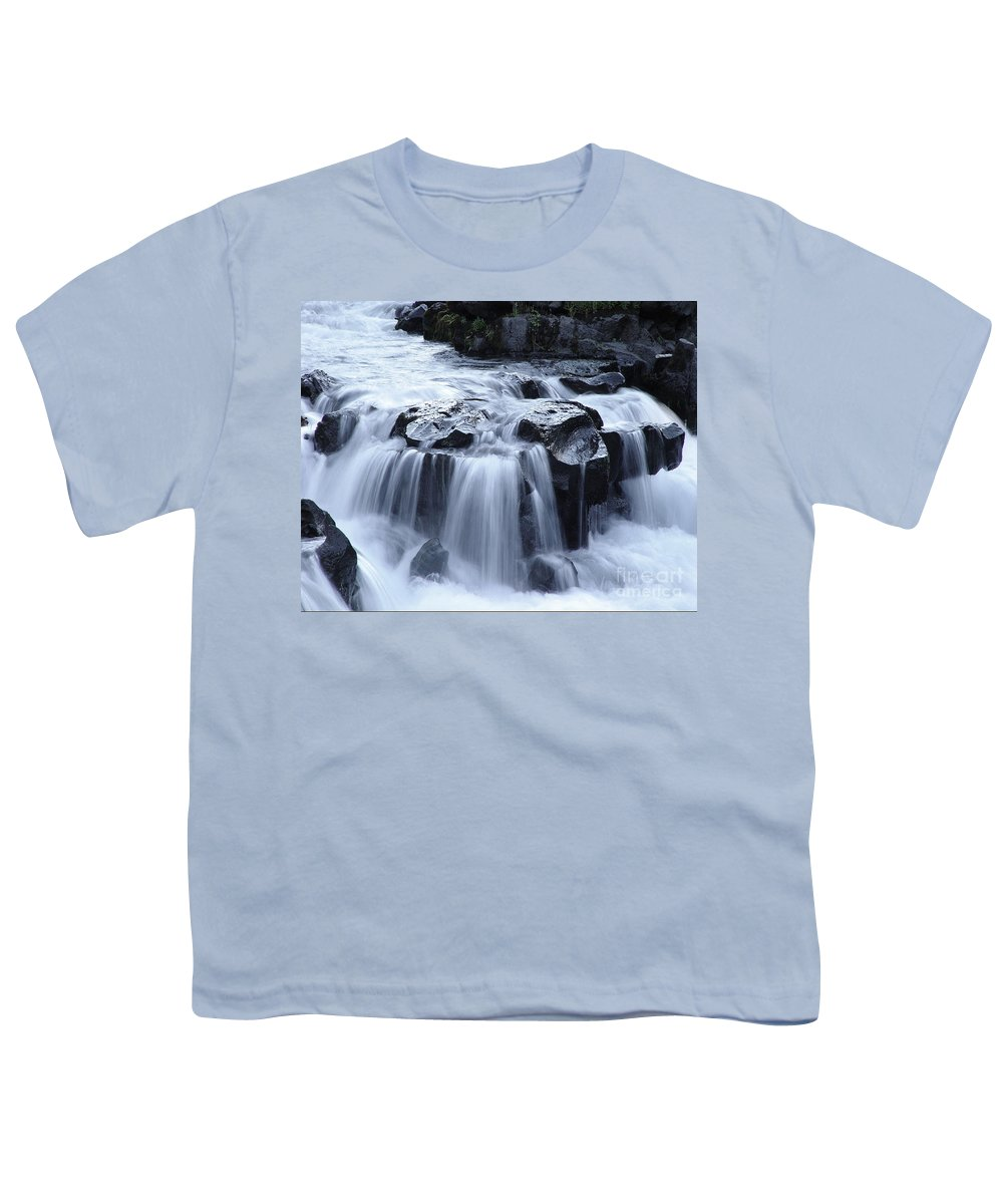 Waterfall Youth T-Shirt featuring the photograph Natural Bridges Falls 02 by Peter Piatt