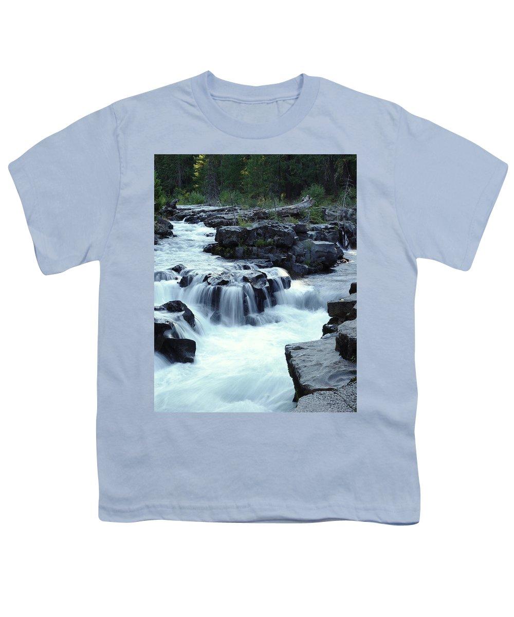 Waterfall Youth T-Shirt featuring the photograph Natural Bridges Falls 03 by Peter Piatt