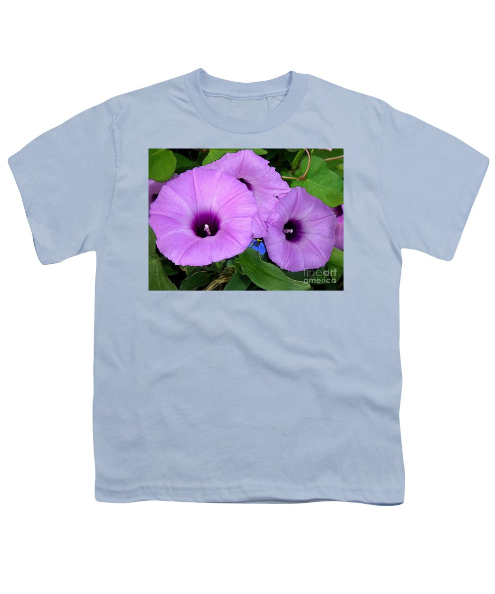 Nature Youth T-Shirt featuring the photograph Nature In The Wild - Morning Bells by Lucyna A M Green