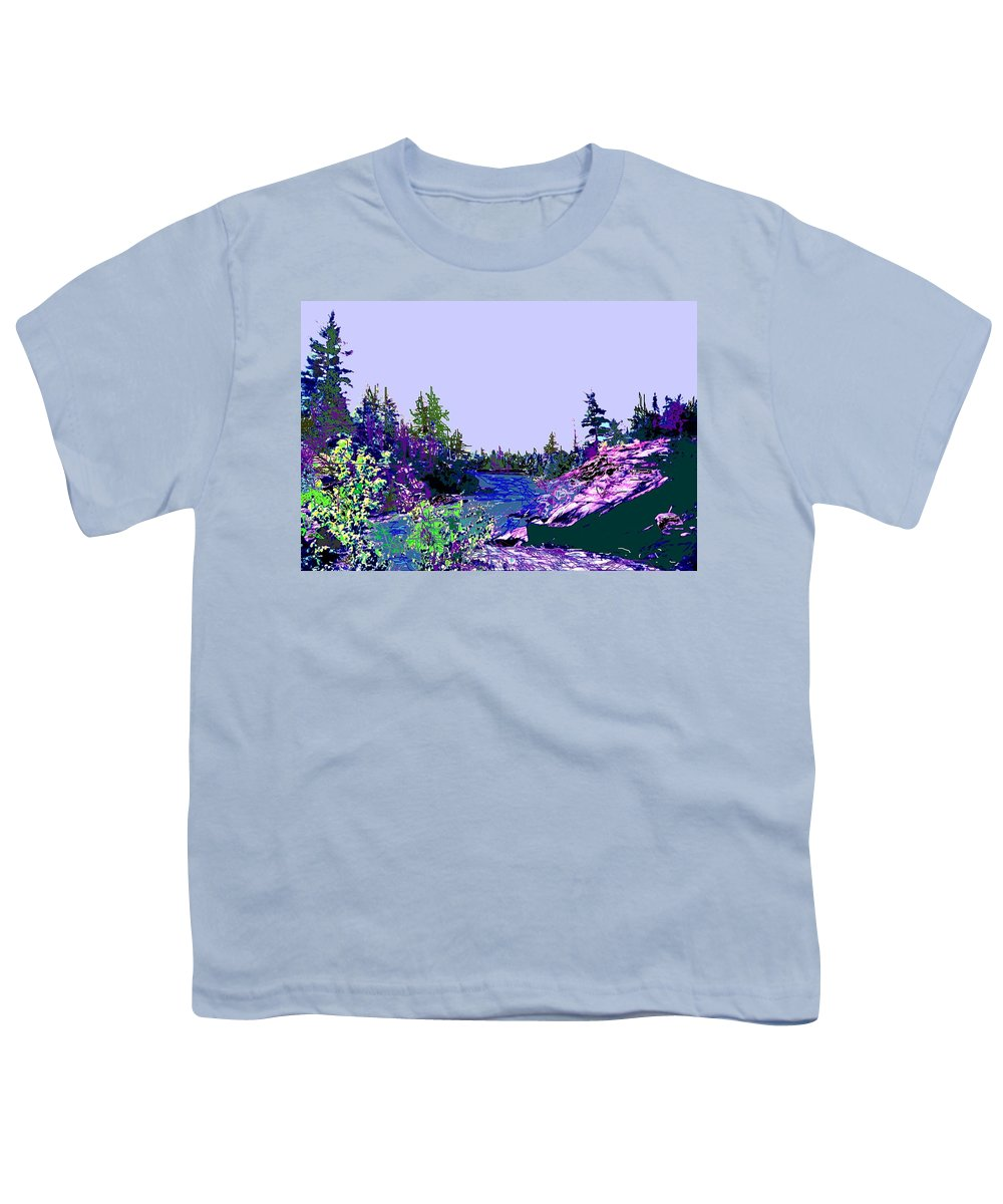Norlthern Youth T-Shirt featuring the photograph Northern Ontario River by Ian MacDonald