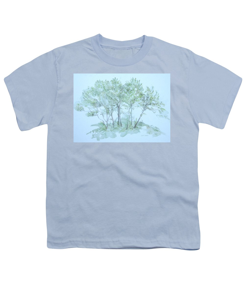 Trees Youth T-Shirt featuring the painting Outer Banks by Leah Tomaino