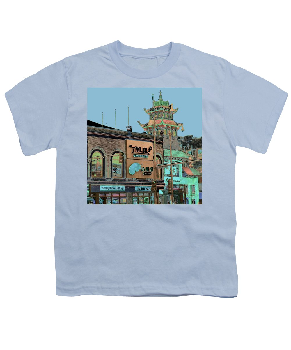China Town Youth T-Shirt featuring the photograph Pagoda Tower Chinatown Chicago by Marianne Dow