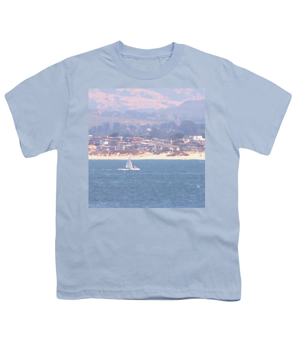 Sailing Youth T-Shirt featuring the photograph Pastel Sail by Pharris Art