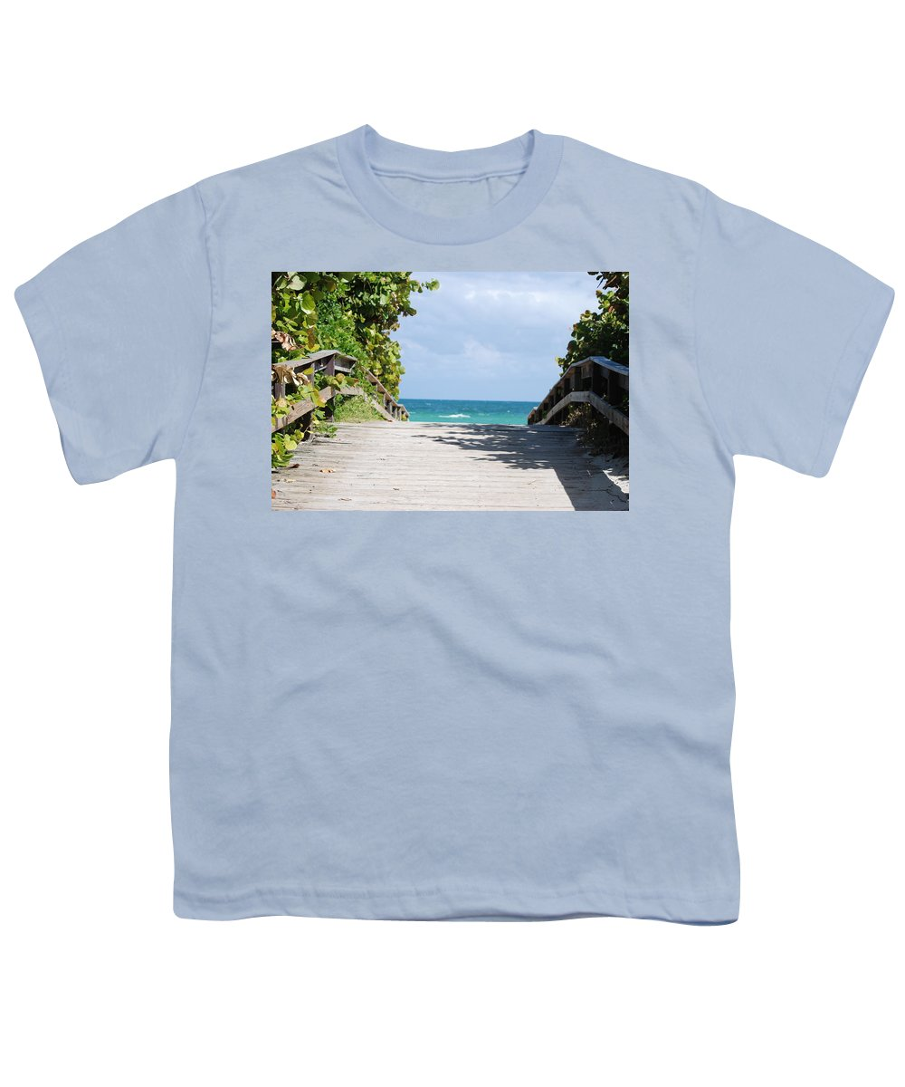 Sea Scape Youth T-Shirt featuring the photograph Path To Paradise by Rob Hans