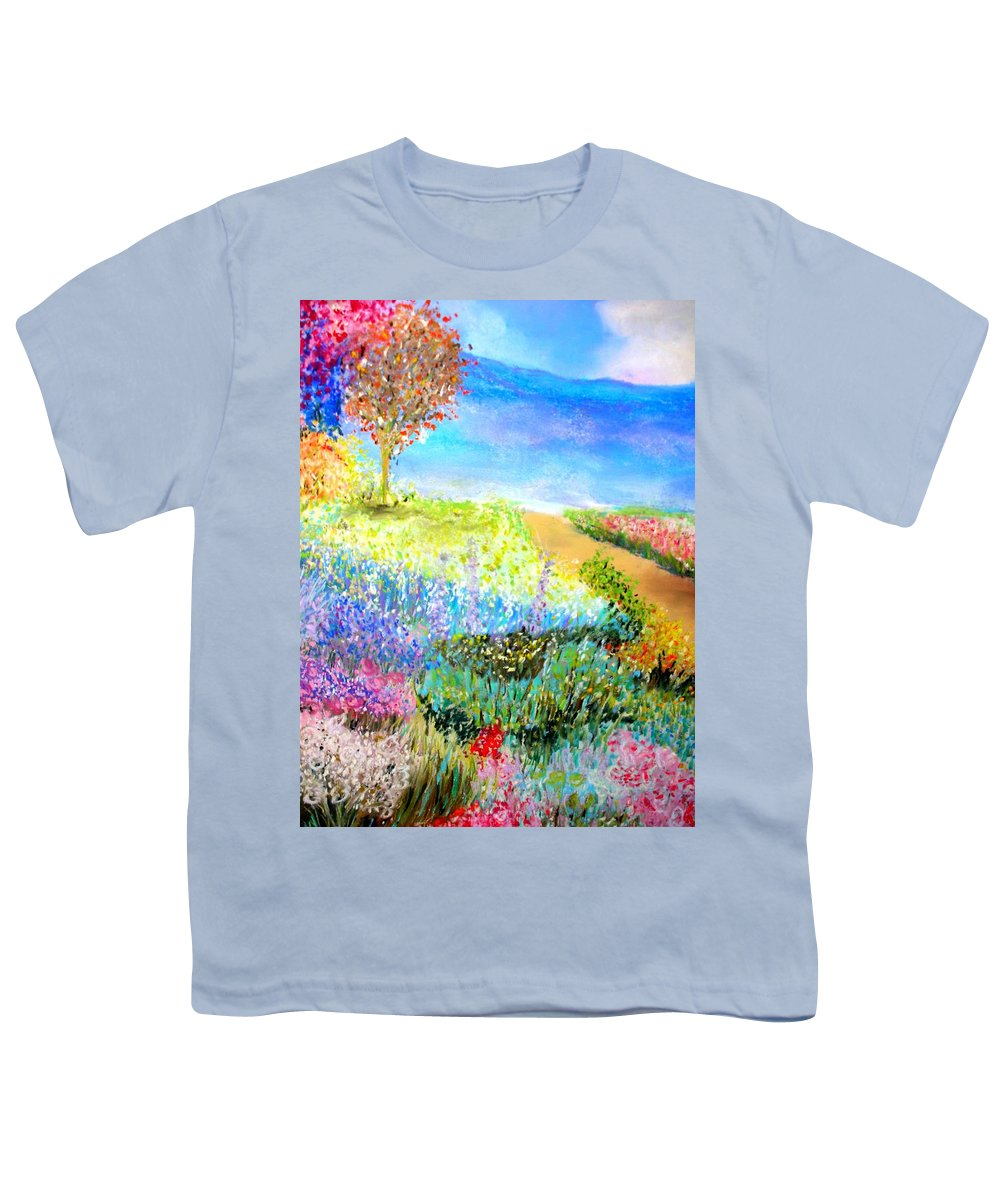 Landscape Youth T-Shirt featuring the print Patricia's Pathway by Melinda Etzold