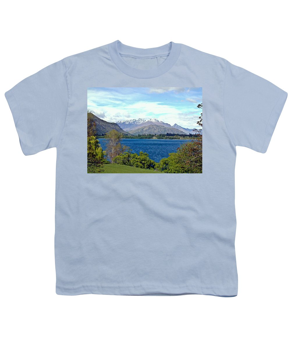 Lake Youth T-Shirt featuring the photograph Peaceful Lake -- New Zealand by Douglas Barnett