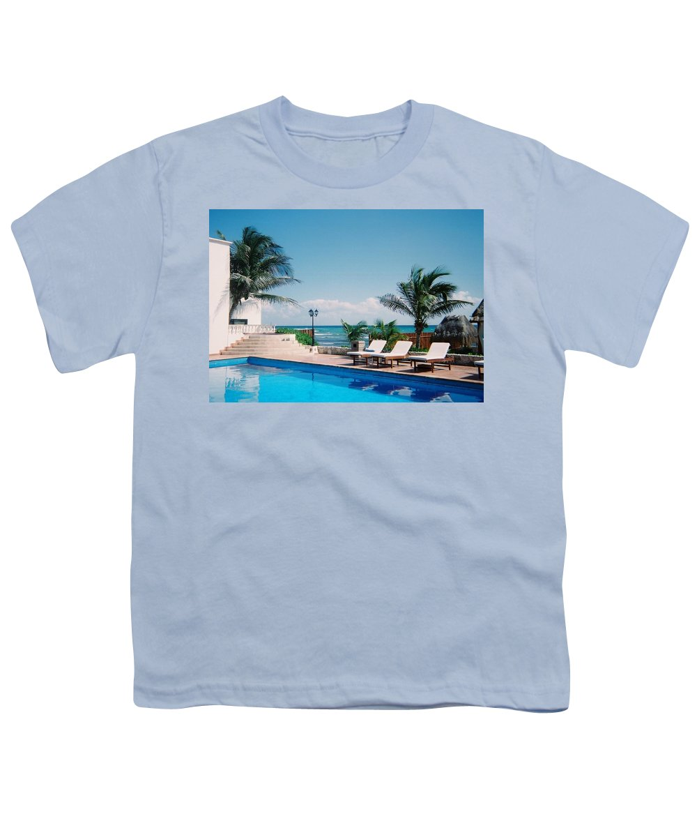 Resort Youth T-Shirt featuring the photograph Poolside by Anita Burgermeister