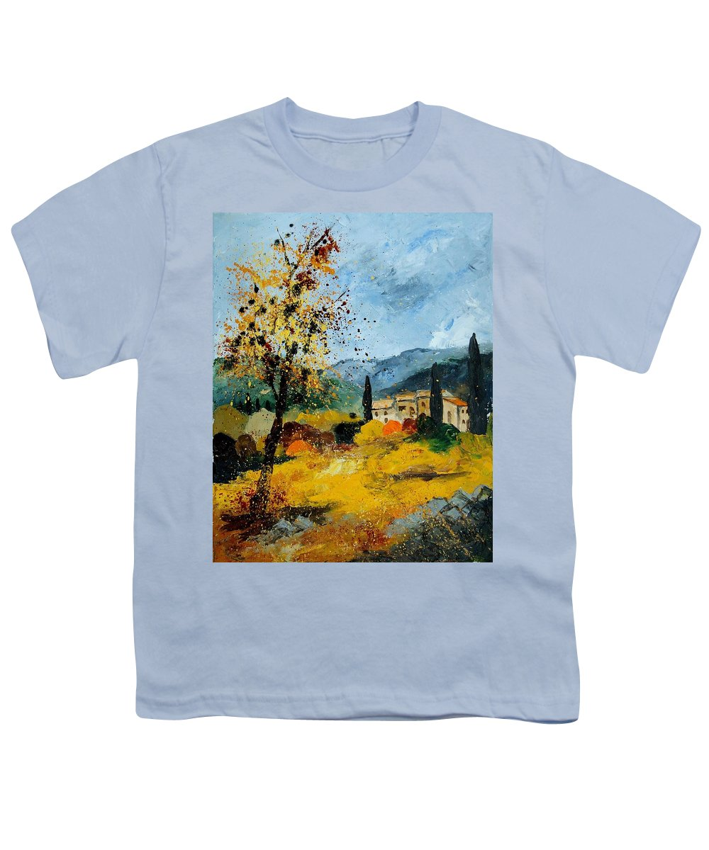 Provence Youth T-Shirt featuring the painting Provence 45 by Pol Ledent