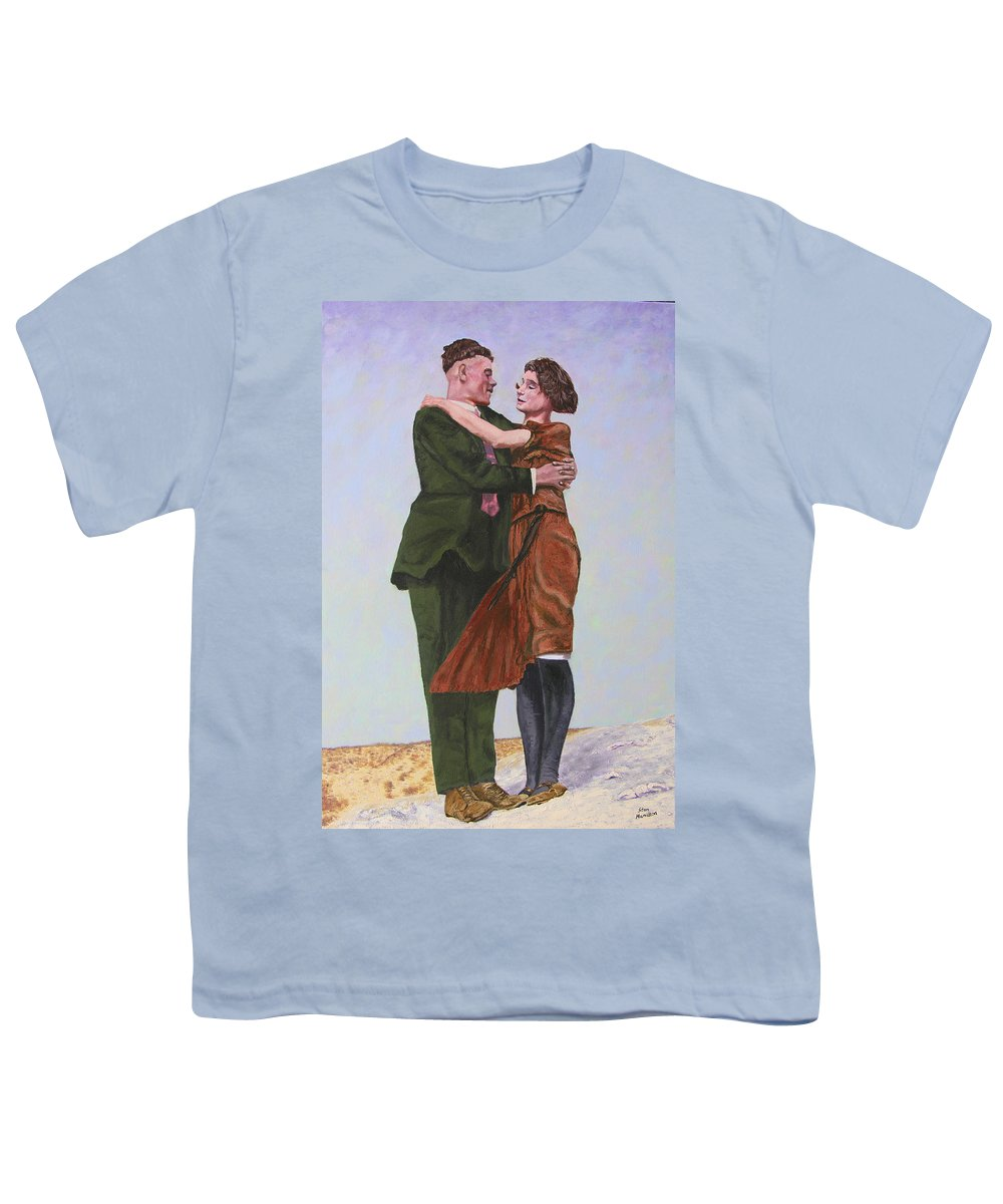 Double Portrait Youth T-Shirt featuring the painting Ray And Isabel by Stan Hamilton