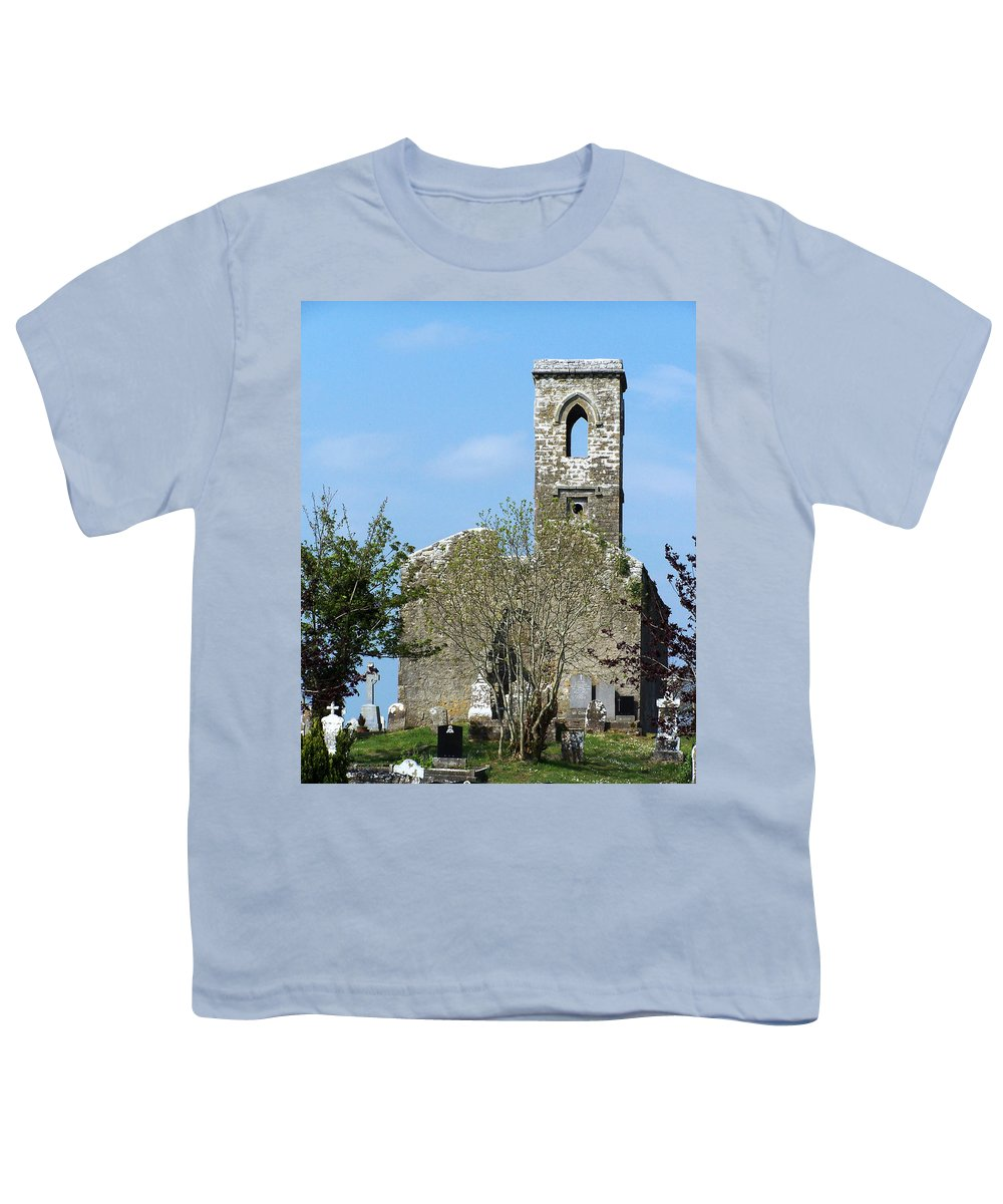 Fuerty Youth T-Shirt featuring the photograph Rear View Fuerty Church And Cemetery Roscommon Ireland by Teresa Mucha