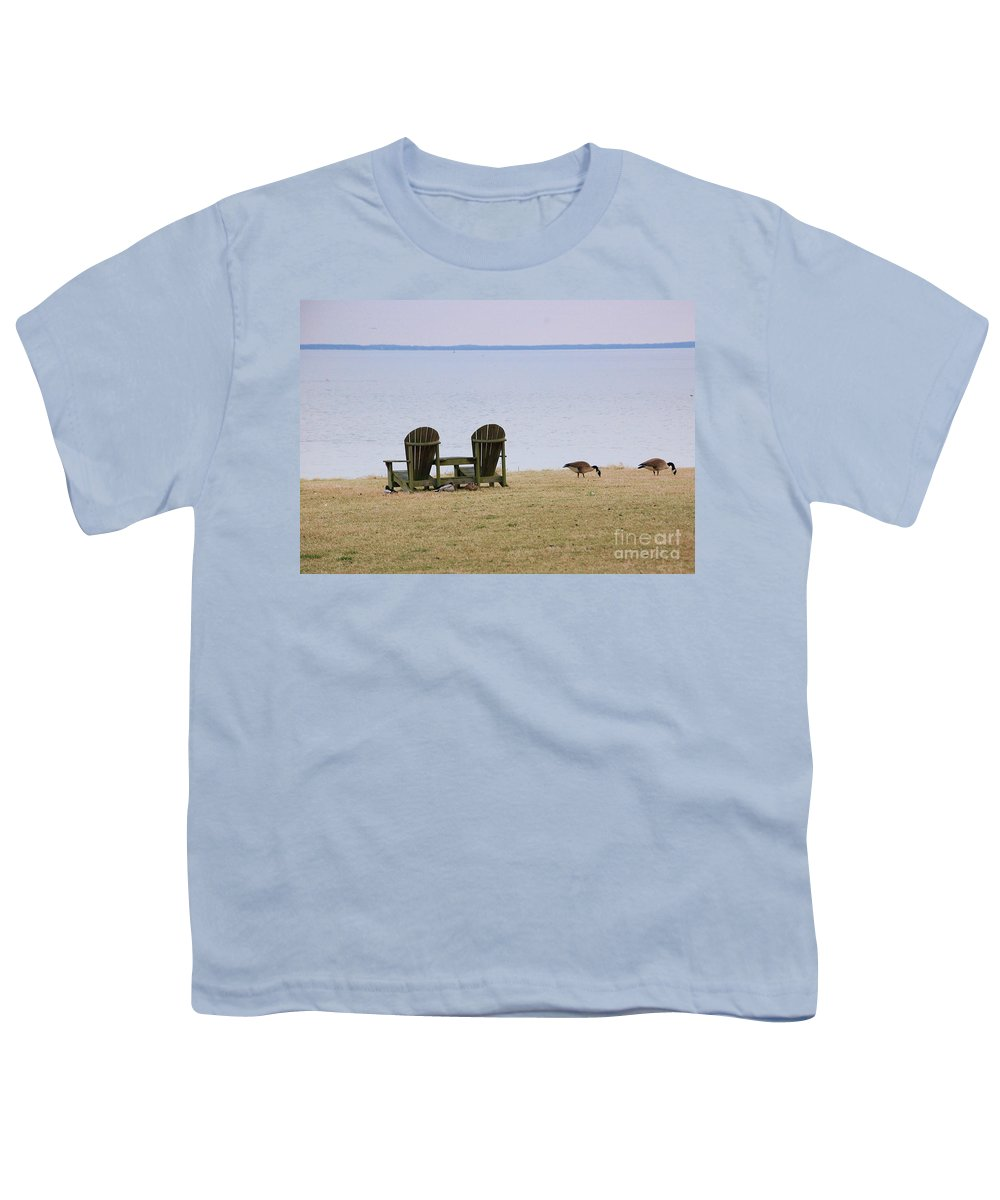 Chairs Youth T-Shirt featuring the photograph Relax by Debbi Granruth